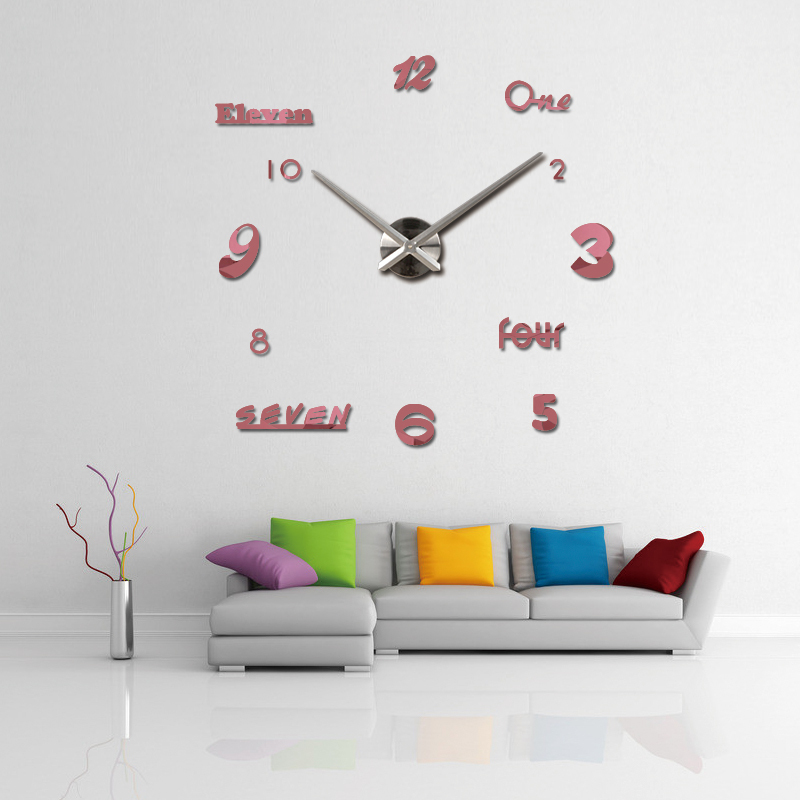 2019 neue wanduhr acryl spiegel uhren reloj de pared quarzuhr horloge - Wohnkultur - Foto 6