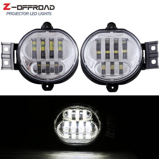 2pcs Black Chrome 63w Led Fog Light For Dodge Ram 1500 2002 2008 2500 3500 2003 2009 Lamp Pasing Lights
