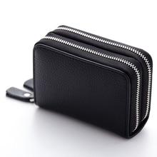 Купить с кэшбэком Women's Short Wallet Double Zipper Purse PU Leather Multi-card Coin Purse Card Holder For Women wallets