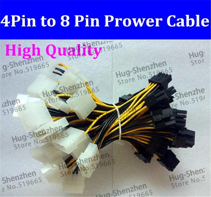 Brand New 4pin to 8pin adapter cable for PCI E Video Card Power ...