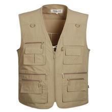 New Summer Zipper Travels Vests Breathable Mesh Vest L-5XL P