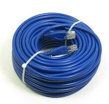 Сетевой провод подключения материал 50 м линии сетки 8 жильный кабель с кристально головы