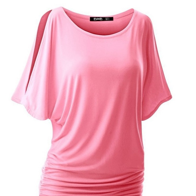 a98132182e6f9 2018 Summer Women Blouse Casual O-Neck Short Sleeve Tops Tees Sexy Cold  Shoulder Solid Blouses Shirt Plus Size 5XL Blusa Mujer