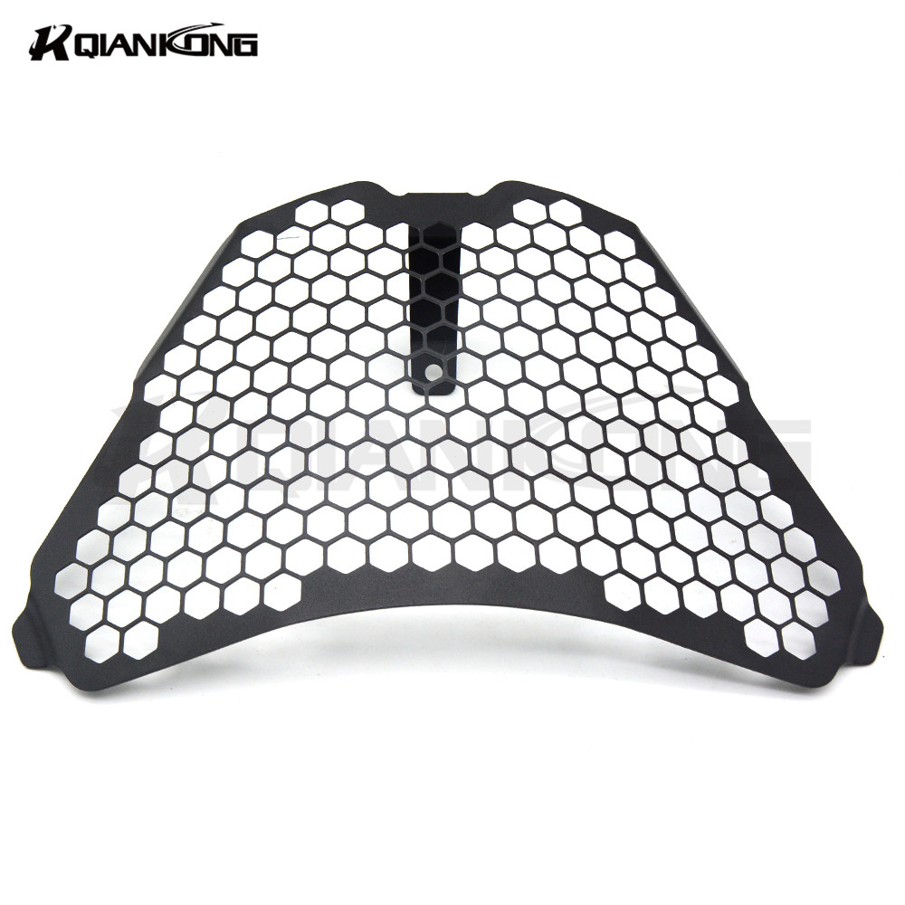 Black Motorcycle AccessorieS Headlight Front Lamp Mesh Grille Cover Mask FOR KTM RC125 RC200 RC390 2014 2015 2016 motorcycle scooter electroplate front headlight headlamp head light lamp small mask cap cover shield large for yamaha bws x 125