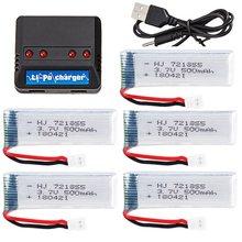 Yukala xk k110 wltoys v930 v977 v989/h37 e50 rc helicóptero 3.7v 500mah li-polímero bateria 721855