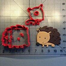 Animal Hedgehog Design Custom Made 3D Printed Cookie Cutter Set Fondant Cupcake Decorating Tools