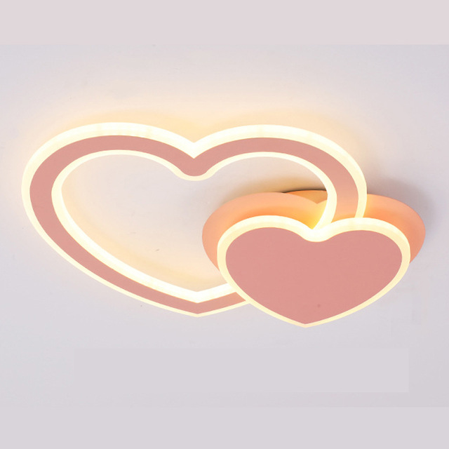 Creative design lamps and lanterns Heart-shaped romance Bedroom lighting Led ceiling lamp rotate modern AcrylCreative design lamps and lanterns Heart-shaped romance Bedroom lighting Led ceiling lamp rotate modern Acryl