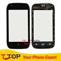 Высокое Качество Для Nokia Lumia 710 N710 Touch Панель Экрана Планшета Переднее Стекло С Рамкой 1 Шт./лот