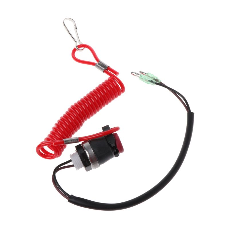 Boat Outboard Engine Motor Kill Stop Switch Motorboat Safety Tether Lanyard Cord Switch For Yamaha Marine Mercury Tohatsu
