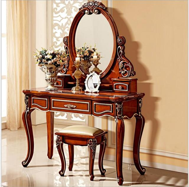 European Mirror Table Antique Bedroom Dresser French Furniture French  Dressing Table Pfy801