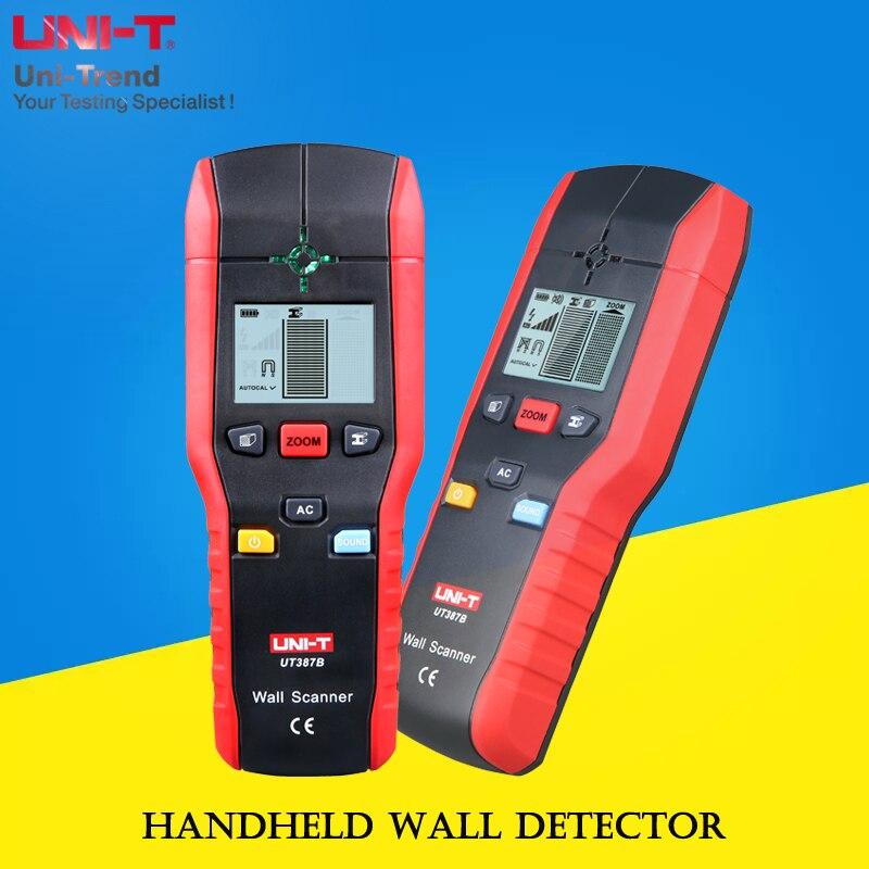 UNI-T UT387B Scanner mural; détecteur mural à main/métal de fer/métal non ferreux/fil chargé/détecteur de bois