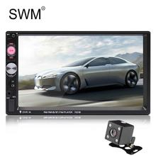 SWM 2 Din Car Radio Autoradio Bluetooth Mirror Link Cassette Player 2din Coche Auto Mp5 Steering Control TF FM