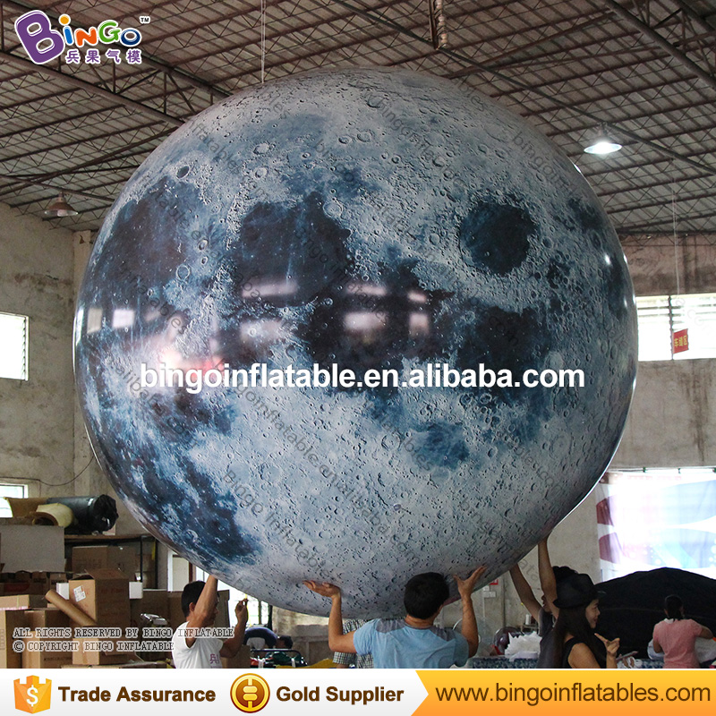 large inflatable PVC helium balloon/inflatable decoration floating moon balloon BG-A1075-3 giant inflatable balloon for decoration and advertisements