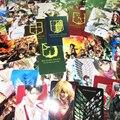(65 шт./лот) нападение на Titan Мультфильм Карты Наклейки Эрен Mikasa Леви 2017 Shingeki нет kyojin Сезон 2 Крылья свободы Стикер