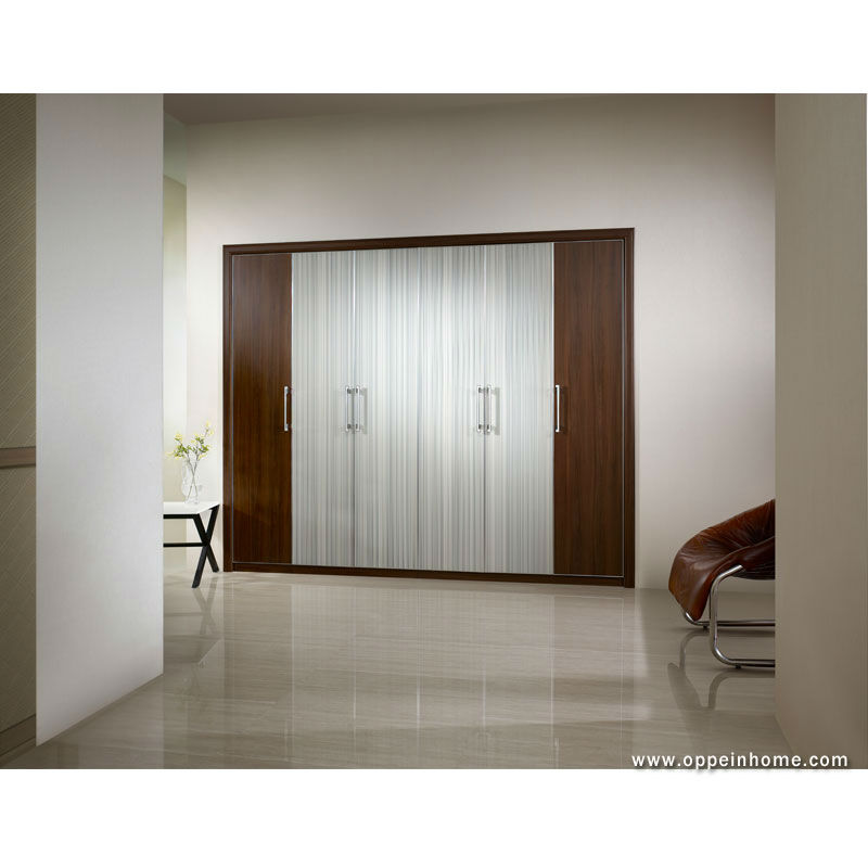 China Manufacturer OPPEIN Modern Design Bedroom Furniture Wooden Wardrobe  YG21237(China)