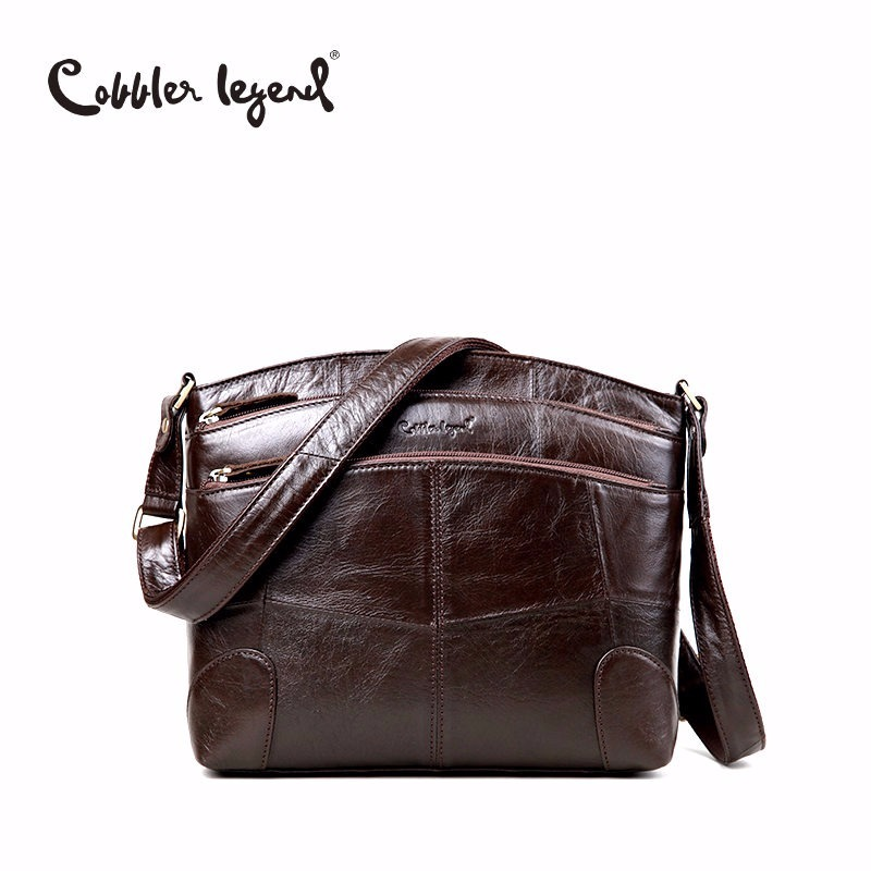 Zapatero legendario diseñador de la marca bandolera de las mujeres bolsos de hombro de cuero genuino para mujer bolso ocasional bolso de las señoras 0910006-1
