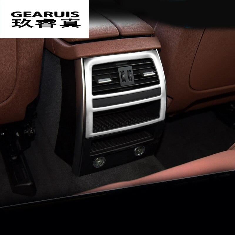 Авто Стайлинг кондиционер сзади украшение для вентиляционного отверстия автомобиля нержавеющая сталь Стикеры для BMW 5 серии GT F10 2011 2016 аксессуар