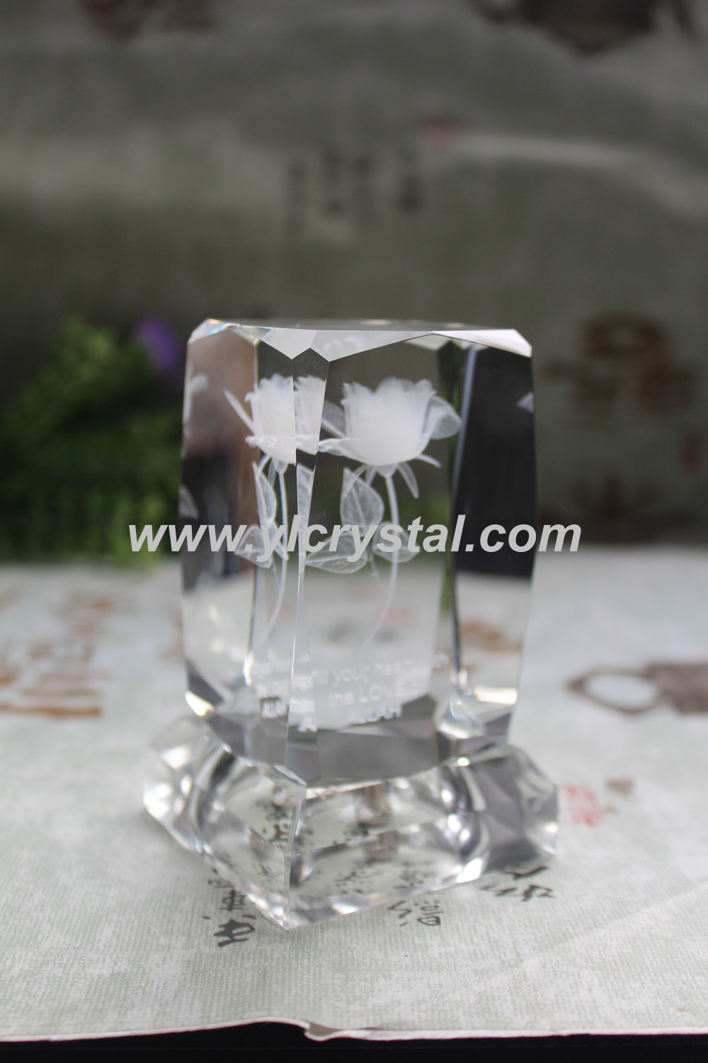 2016 new design personalized crystal cube with 3d laser rose 2016 new design personalized crystal cube with 3d laser rose inside with led base for gift in statues sculptures from home garden on aliexpress reviewsmspy