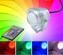 10 W LED RGB piscina estanque luz Coloful lámpara de pesca con Control remoto