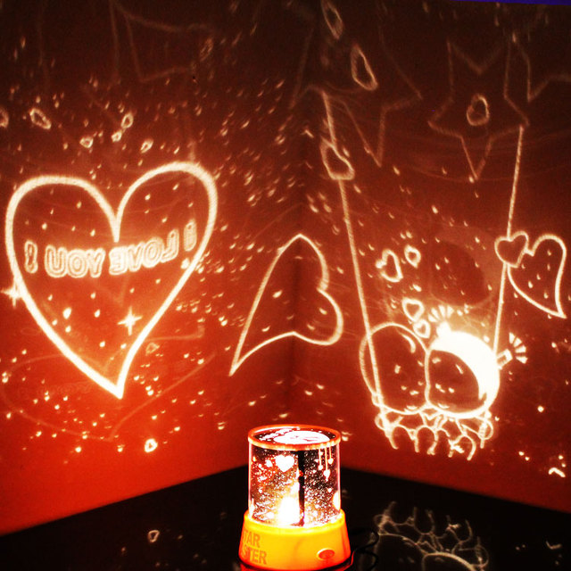 Free Shipping Star Lover Night Light Stars Projector Constellation Lamp Toy 3 Colors Creative Children Christmas Birthday Gift