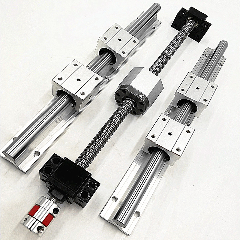 best price ball screw SFU1605 & 2Pcs linear guide SBR20 L200/300/400/500mm +4 pcs SBR20UU & BK12 and BF12 & coupler 8 *10 best price 5pin cable for outdoor printer