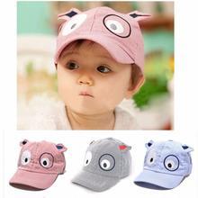 Top Selling Kids Boys Girls Cute Cartoon Dog Beret Hat Sun Hat Baseball Cap baseball cap baby Cotton Material 2017 Vicky