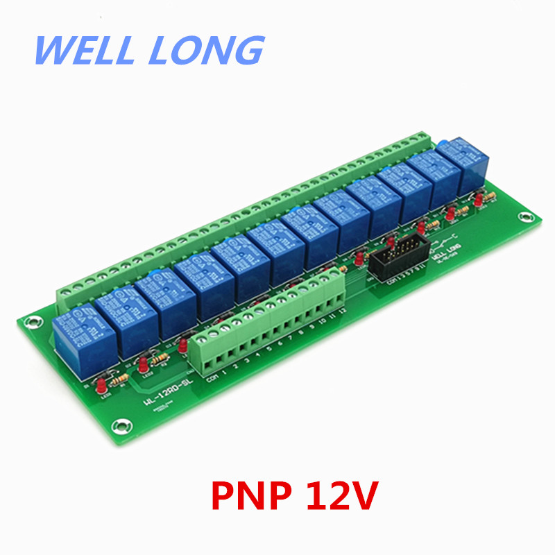 12 Channel PNP Type 12V 10A Power Relay Interface Module,SONGLE SRD 12VDC SL C Relay.