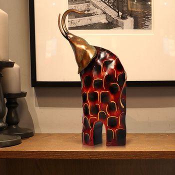 TOOARTS delikatna ręcznie metalowa rzeźba podnosząca głowę żelazna sztuka słoń artykuły do wyposażenia wnętrz ozdoby wystrój wnętrz tanie i dobre opinie Zwierząt Europejska