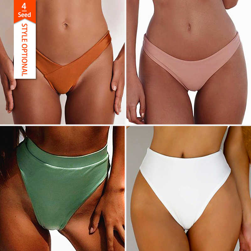 f244f18da7e Fulaigesi Bottoms bikini Thong high women swimwear brazilian sexy solid low  waist Two Piece Separates swimsuit