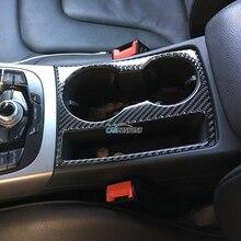 Для Audi A5 A4 B8 2009-2015 отделкой из углеродного волокна подстаканник декоративная рамка Наклейка Обложка Стикеры покрытие автомобиля стиль