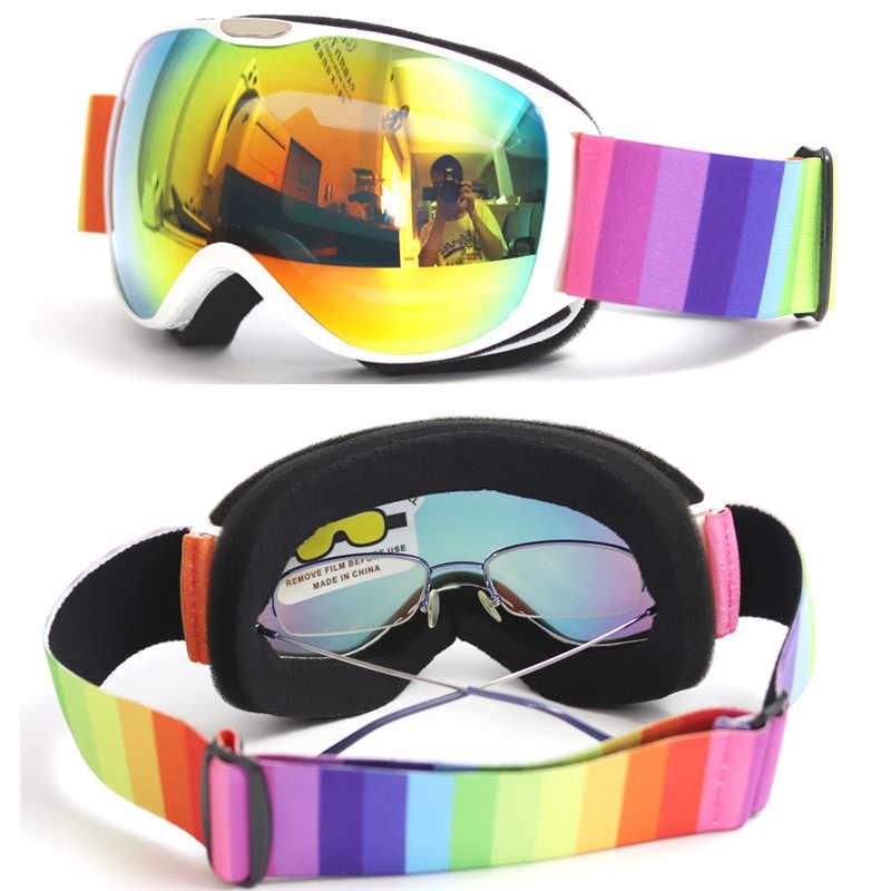 BOLLFO Çocuklar kayak gözlüğü Çocuklar için Küçük Boyutlu UV400 anti-sis maskesi gözlük kayak Küresel Lens Kız Erkek Snowboard g