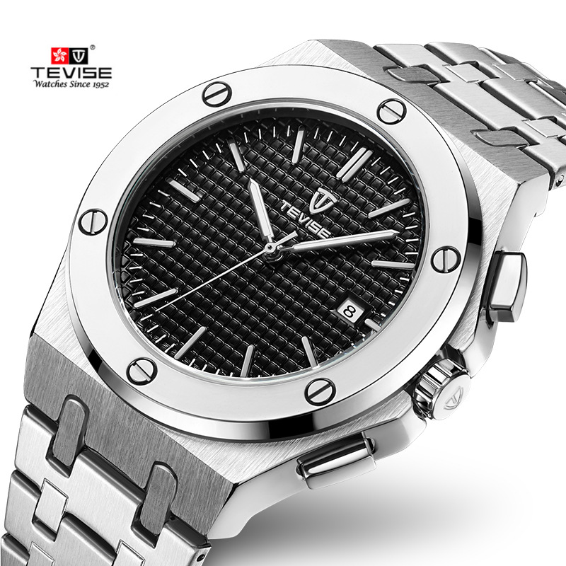 Tevise Sport Watches Men Automatic Mechanical Wristwatch Luminous Auto Date Military Design High Quality Stainless-steel WatchTevise Sport Watches Men Automatic Mechanical Wristwatch Luminous Auto Date Military Design High Quality Stainless-steel Watch