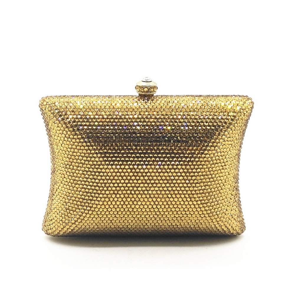 XIYUAN BRAND new gold/silver plain crystal clutch small purse evening bags female diamond Messenger Bag for students prom gifts xiyuan brand gold party purse bags women luxury silver crystal evening bags female pochette diamond ladies wedding clutch bags