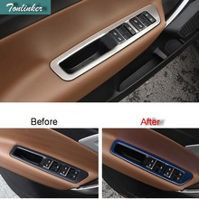 Tonlinker Cover stickers For Geely Atlas 2016 18 Car Styling 4 PCS ABS Stainless steel door