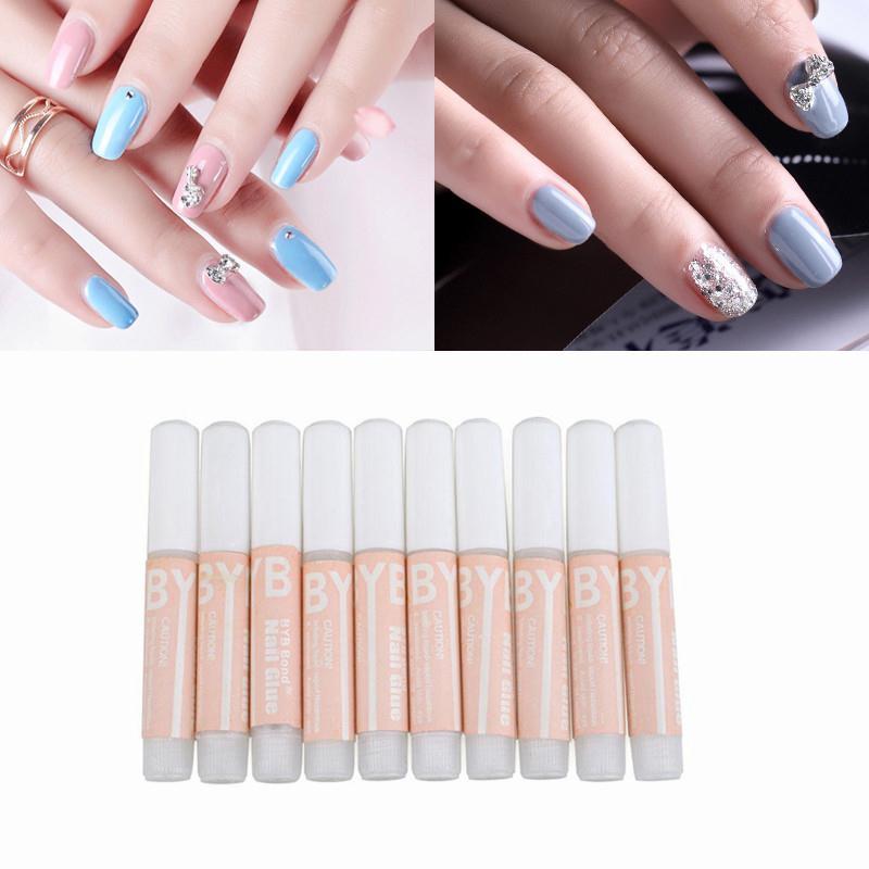 10pcs Beauty Clear Nail Foil Adhesive Glue Star Glue for Nail Foils ...