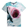 Escape Shark Attack 3D Print T-shirt Cotton Unisex Summer Tee Shirts Teen Loose Homme Tops white shark attacks Cape Cod kayakers