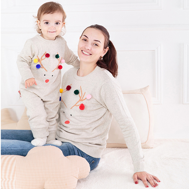 Matching Family Christmas Outfits.Us 16 47 2018 Time Limited Direct Selling Family Christmas Outfits Clothing Mother Baby Look Sweater Matching Clothes And Knitted Romper In
