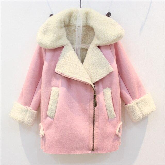 d38851c31 2017 new autumn and winter Kids girls Korean casual pink Suede coat ...