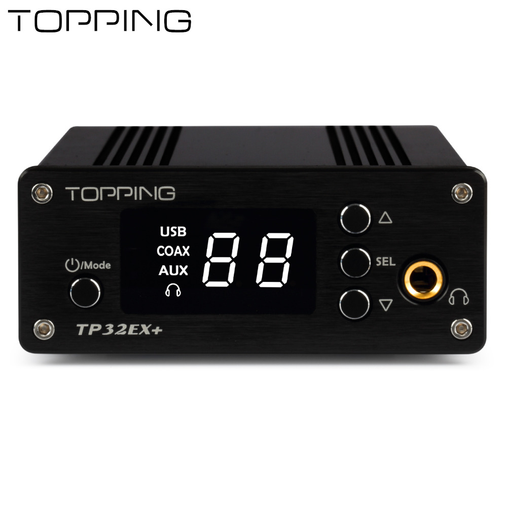 TOPPING TP32EX + multi-function digital HiFi fever amplifier with coaxial USB decoder amp Audio Preamplifier 75W*2 DAC Decoder стоимость