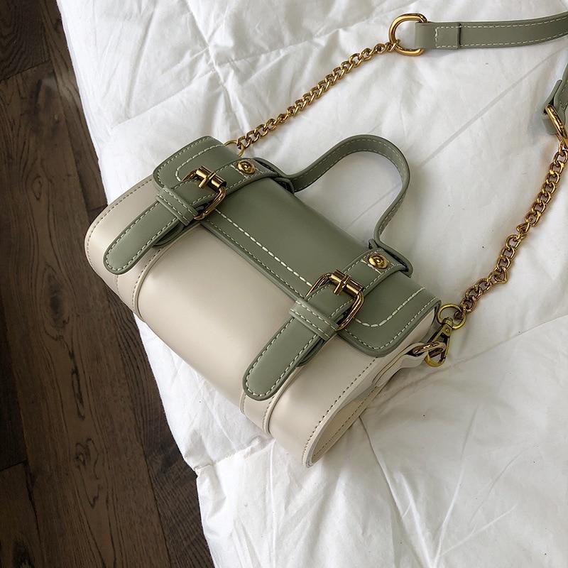 Women PU Leather Handbags Mini Ladies Shoulder Bag Luxury Designer Casual Panelled Messenger Bag