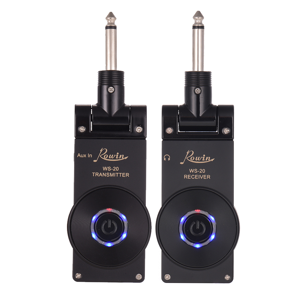 Rowin WS 20 2 4G Wireless Rechargeable Electric Guitar Transmitter Receiver Set 30 Meters Transmission Range