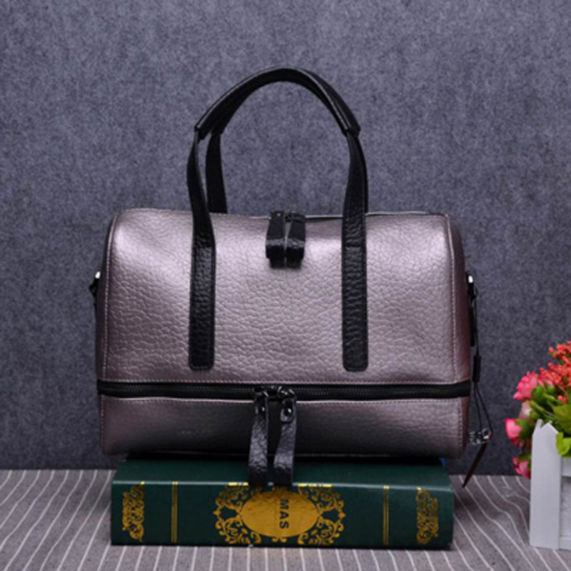 цена на 2018 Hot selling new fashion women handbags good quality speedy bag with starp bag real leather patchwork lady shoulder bags