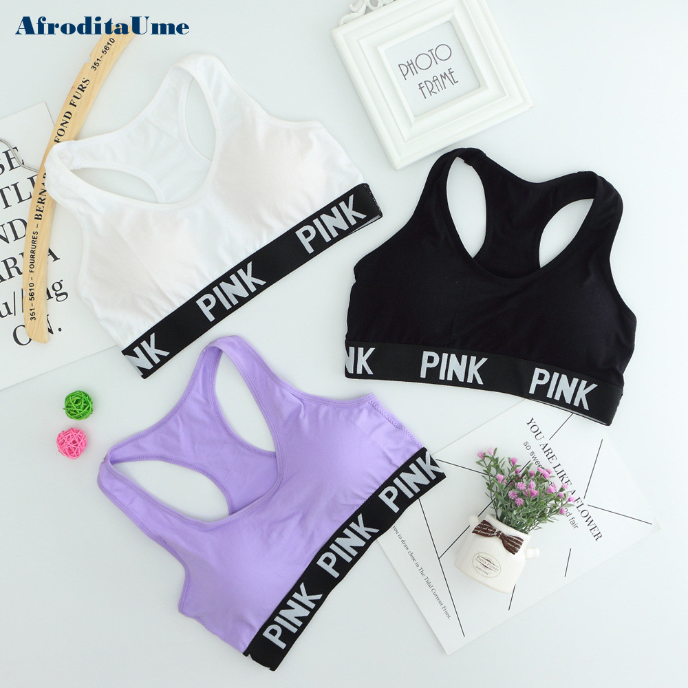 Women Casual Crop Top Cropped Padded Bra Tank Top Vest Fitness Workout Bras 1