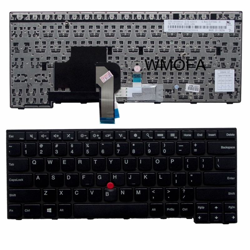 US Black New English Replace laptop keyboard For IBM For Thinkpad E450 E455 E450C T450 W450 With pointing sticks laptop keyboard for clevo m550 black without frame with trackpoint u s english international ui mp 030834u 4309l
