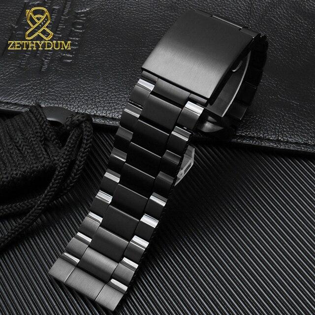 Bracelet de montre en acier inoxydable à extrémité bombée 26mm bracelet de montre en métal solide pour diesel DZ4318 DZ4323 DZ4283 DZ4309 bracelet de montre