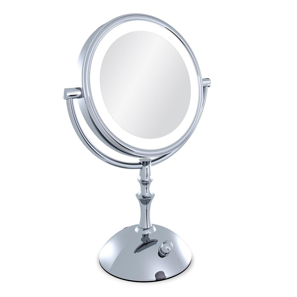 Professionellen Make-up Spiegel Mit Licht 8 Zoll Führte Taschenspiegel Kosmetikspiegel Dame 3x Doppelseitige Vergrößerungs Espelho Bad Spiegel Ruf Zuerst Spiegel