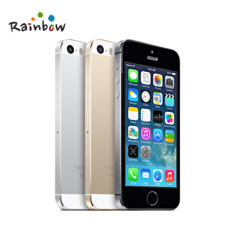 bilder für Original Entsperrt Apple iPhone 5 s 16 GB/32 GB ROM 8MP kamera 1136x640 pixel WIFI GPS Bluetooth handy multi sprache