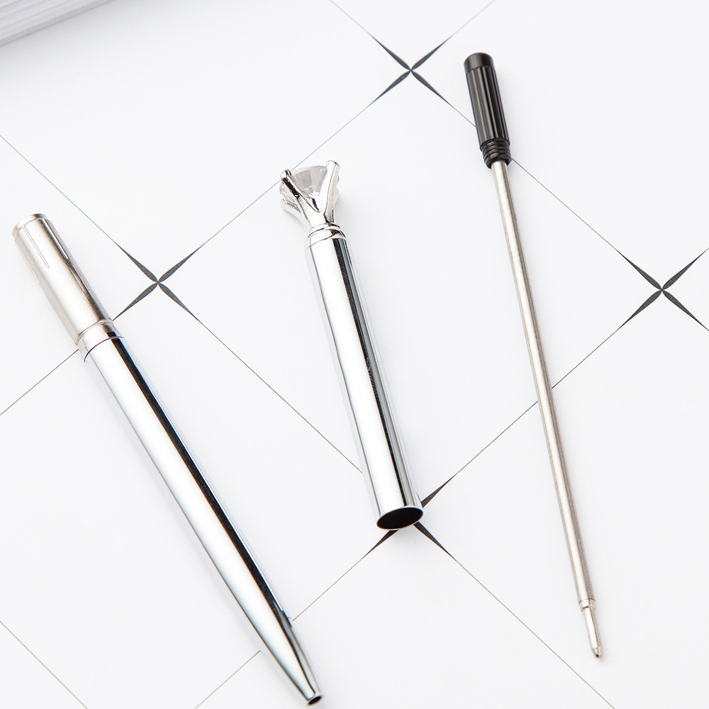 Kawaii Ballpoint Pen Big Gem Metal Ball Pen With Large Diamond Magical Pen Fashion School Office Supplies Students Gift Awards in Ballpoint Pens from Office School Supplies