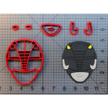Super Hero Rangers Cookie Cutter Set Fondant Cupcake Top Custom Made 3D Printed Cake Decoration Tools Doll Branch Kitchen