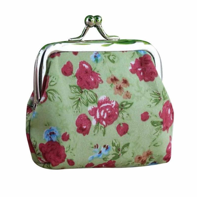 Retro Moeda Bolsa do Saco Das Mulheres Do Vintage Flor Pequena Carteira Ferrolho bolsa Chave Titular Saco de Embreagem Senhoras Meninas Sacos de Armazenamento De Dinheiro Carteira